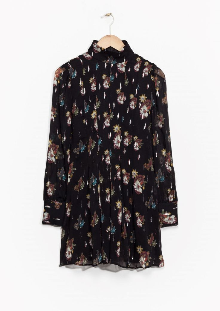 & Other Stories | Winter Garden Print Dress.