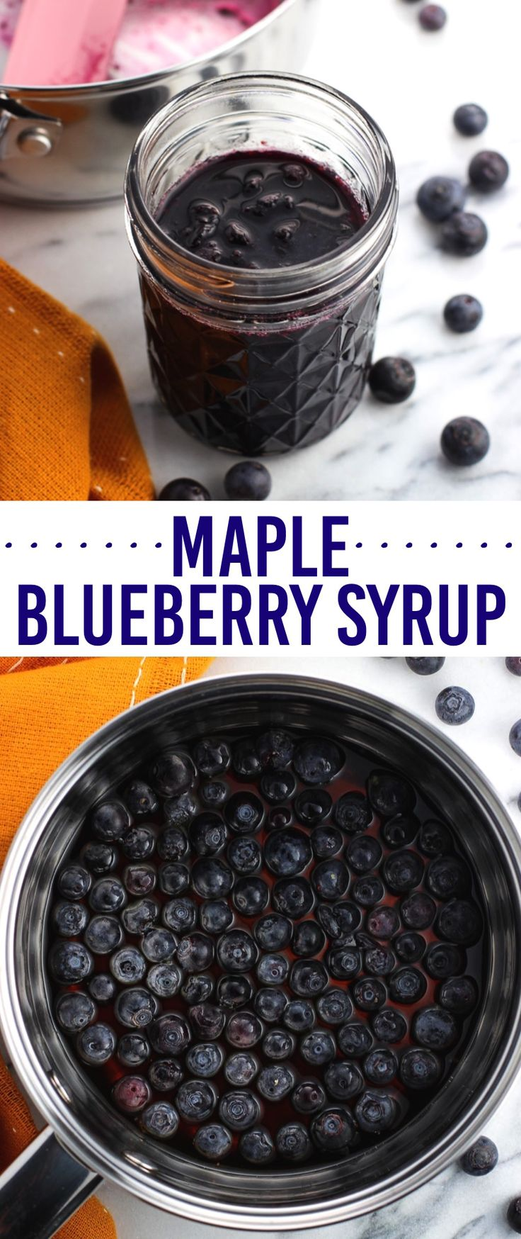 Maple blueberry syrup is an incredibly simple, three-ingredient syrup recipe that revamps breakfast or brunch. Perfect for pancakes, waffles, and more.