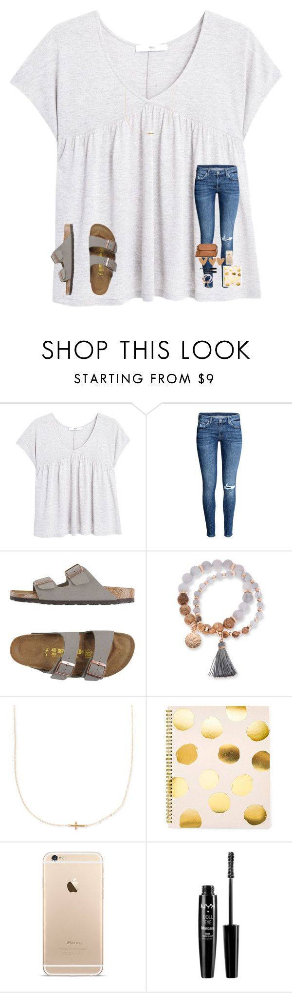 """I hate Mondays "" by mae343 ❤ liked on Polyvore featuring MANGO, Birkenstock, Kim Rogers, Sugar Paper, NYX and Tory Burch"