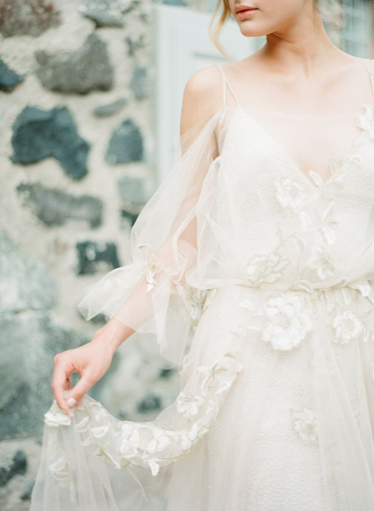 Delicate romantic bridal gown | Luxury weddings in Greece
