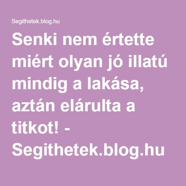 Senki nem értette miért olyan jó illatú mindig a lakása, aztán elárulta a titkot! - Segithetek.blog.hu