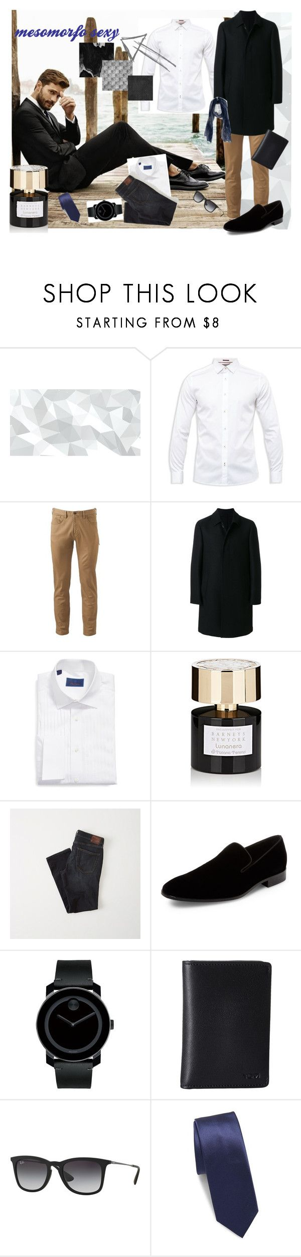 mesomorfo by hangiecruz on Polyvore featuring Ted Baker, DAVID DONAHUE, Dockers, Abercrombie & Fitch, Lardini, Saks Fifth Avenue, Movado, Ray-Ban, Tumi and Salvatore Ferragamo
