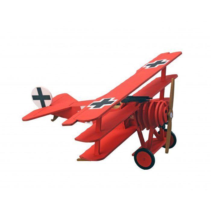 Hout modelbouw voor kinderen – Fokker Dr.I Dreidecker