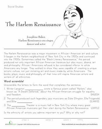 History of the Harlem Renaissance | Classroom Style ...