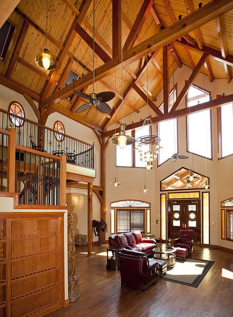 Custom Timber Frame Home from Texas Timber Frames by Texas Timber Frames, via Flickr