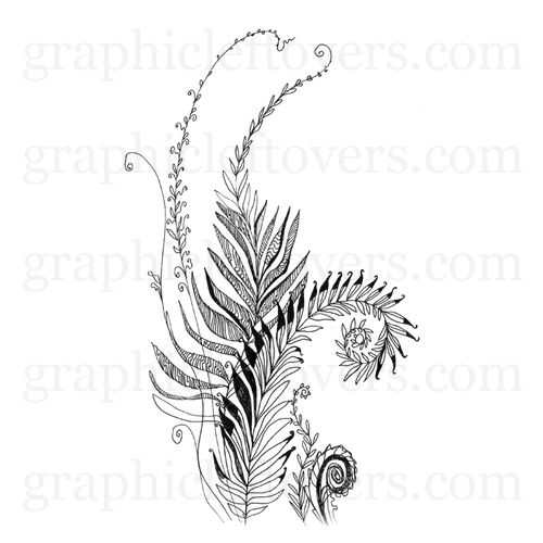 """Plant"", Black And White, Pen And Ink. Drawing,..."