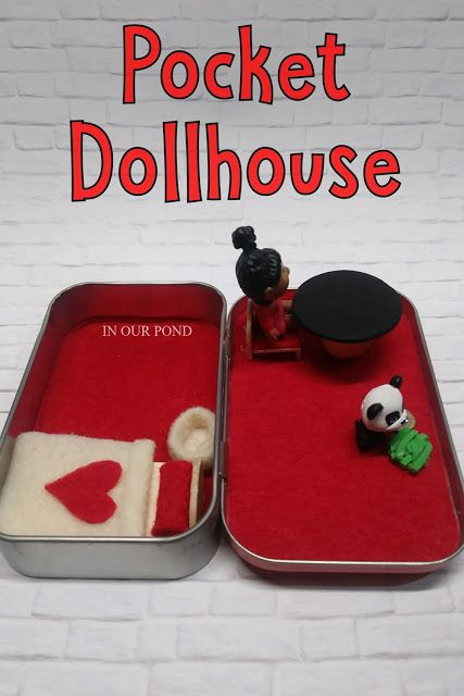 How to Make a Dollhouse in an Altoid Tin from In Our Pond  #miniatures #diy  #crafts  #dollhouse  #cabbagepatchdoll  #roadtrip  #travel  #busybags  #altoidtin  #airplane