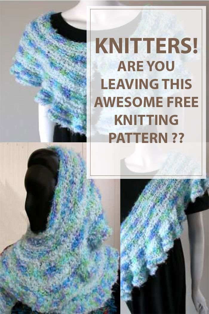 The Ruffled Free Knitting Pattern is a 4 in 1 pattern.You can wear with various ways like a collar,a head wrap, as shawl or as a sash. #knitting #knit