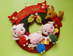 Esse ano as encomendas de guirlandas pra Natal foram bem restritas, mas mesmo assim deu tempo pra fazer algumas peças lindas! A Ana queria u...