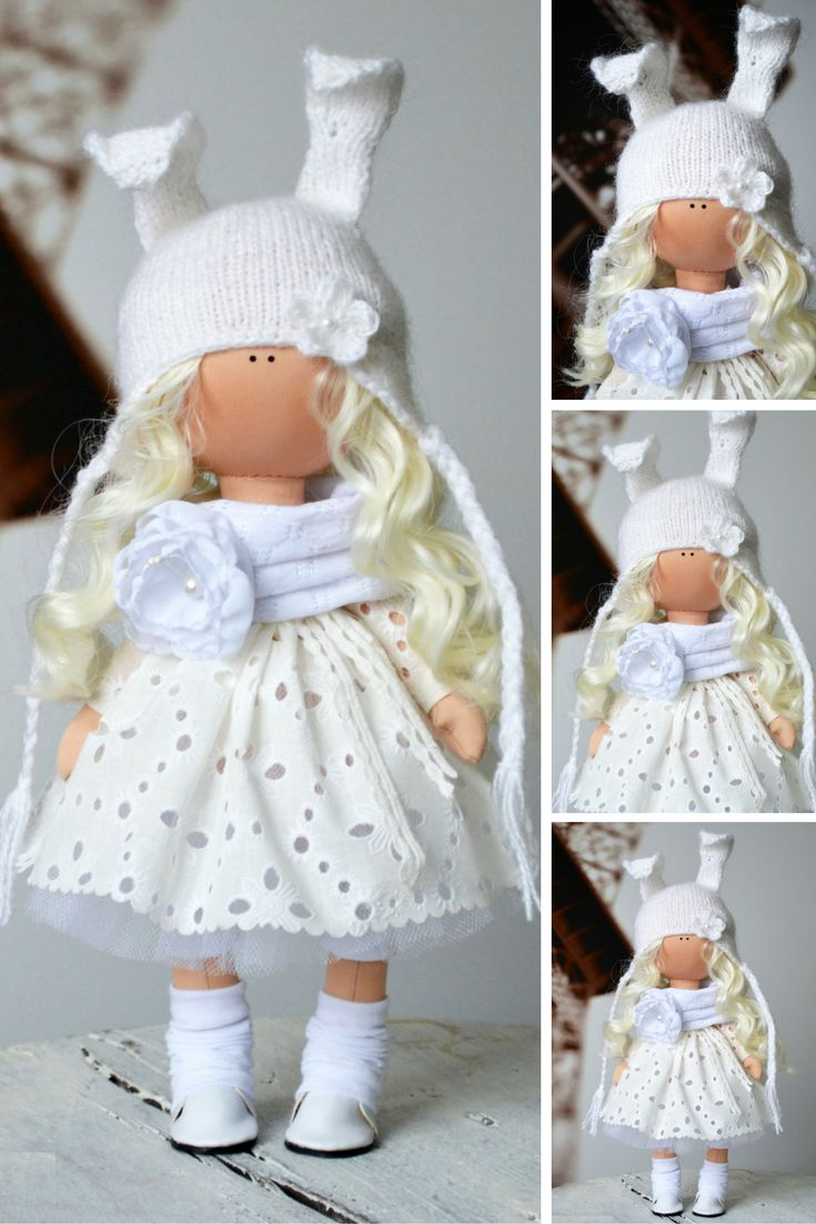 Bunny doll Rag doll Tilda doll Fabric doll Interior doll Handmade doll White doll Soft doll Nursery doll Cloth doll Collectable doll by Olga