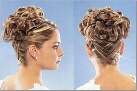 Prom updo curly hairstyles for long hair tutorial Wedding Bridal Greek goddess medium easy