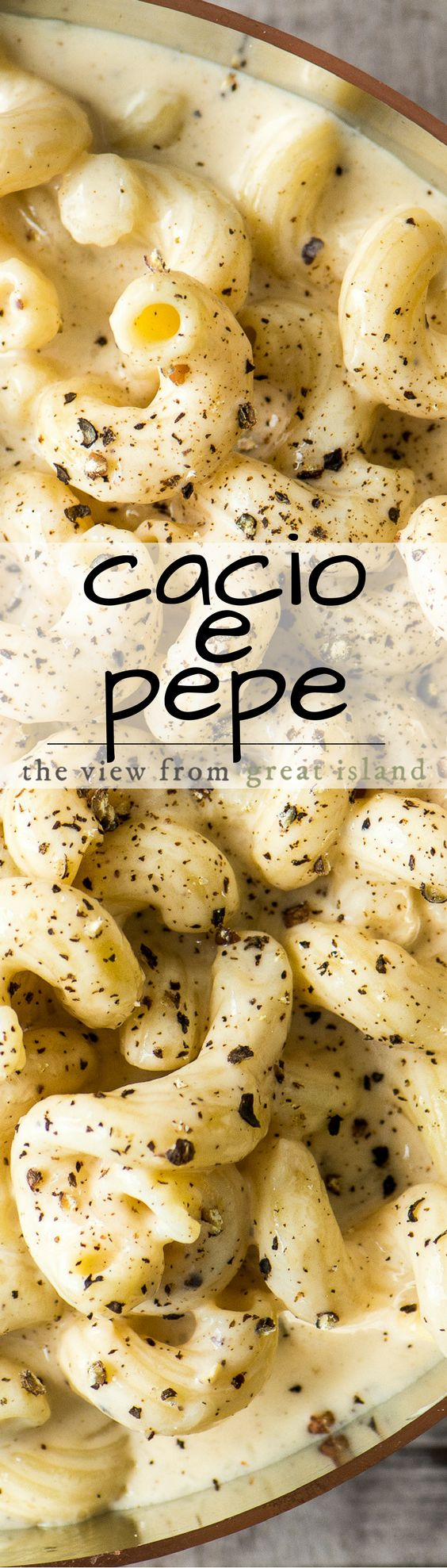 Cacio e Pepe Macaroni and Cheese marries the uber simple but powerfully flavored classic Italian cheese and pepper pasta with everybody's favorite comfort food ~ delish!