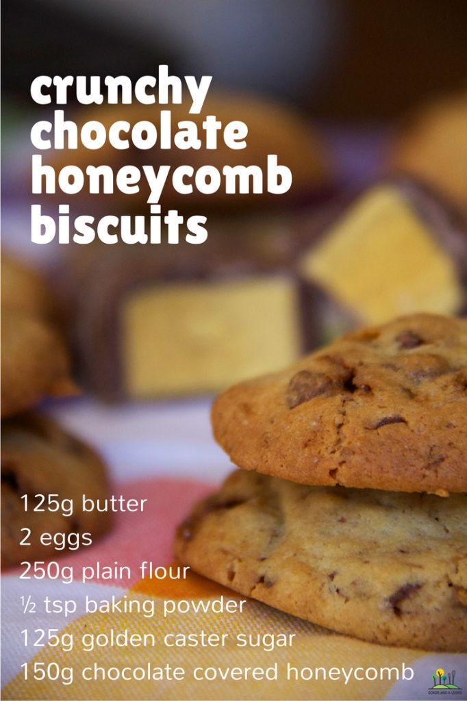 crunchy choc honeycomb biscuits | Cooker and a Looker