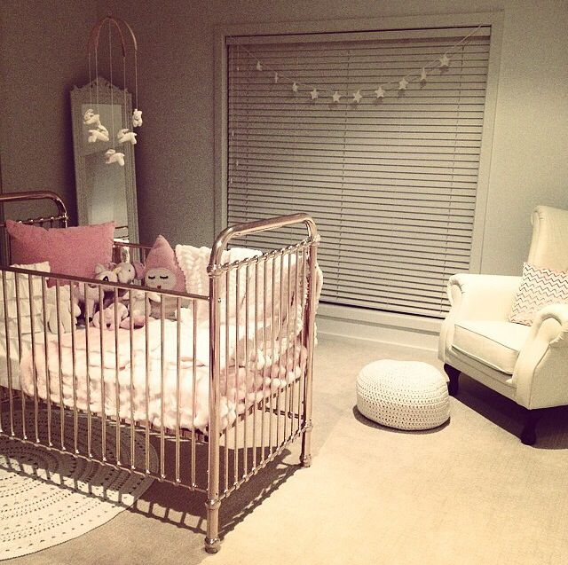 Beautiful nursery  Rose gold cot