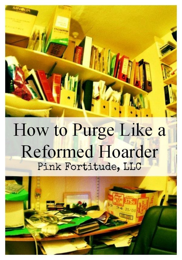 How to Purge Like a Reformed Hoarder by coconutheadsurvivalguide.com #organize #clutter