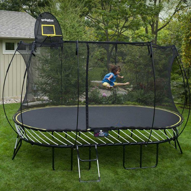 Springfree o92 8ft x 13ft oval trampoline garden for Springfree trampoline