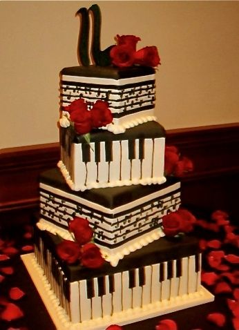 Amazing Red Black And White Wedding Cakes 27 Pic Awesome Pictures