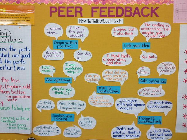 Anchor: Peer Feedback/Accountable Talk by Mary-Kay G, via Flickr