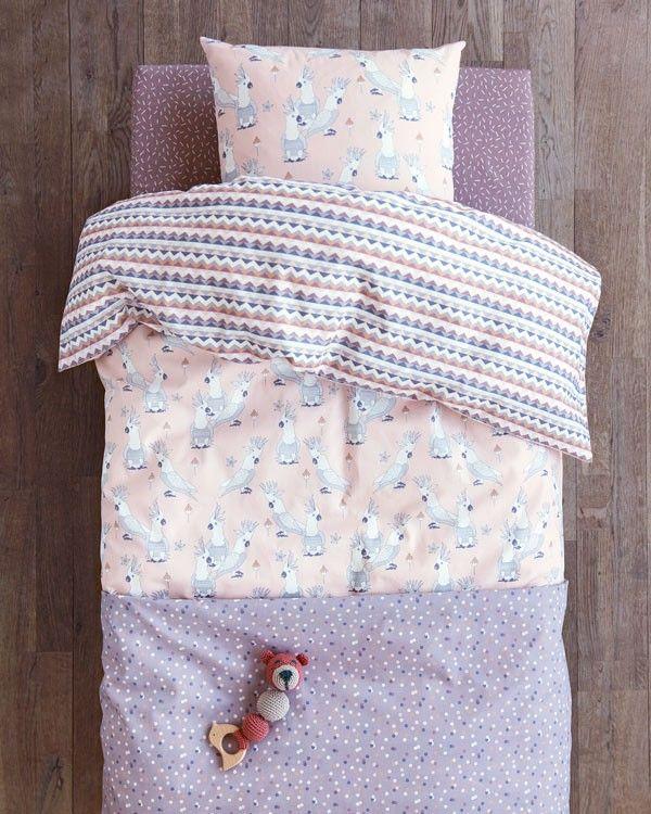 Sengetøj og puder til pigeværelse. Forny børneværelset med skønne farver. 100% Bomuld Oekotex