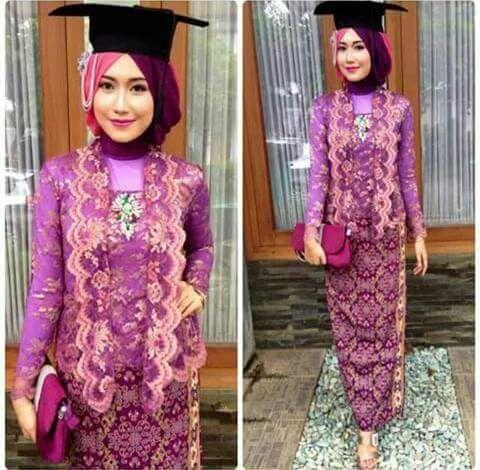 Model Baju Kebaya Wisuda Muslim Modis