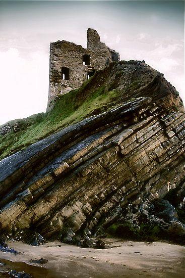 Ballybunion Castle. Kerry, Ireland