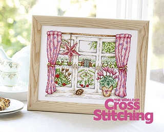 Winter window, cross stitch design by The World of Cross Stitching, issue 197