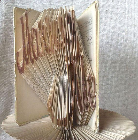 Book folding pattern and FREE Tutorial - Marry Me - folded book art, origami, gift #bookfolding #bookfoldingpattern #foldedbookart #booksculpture #papersculpturebook #origamibook #weddinggift #weddinganniversary #birthdaygift #patterntutorial #recycledbook #homedecor #lovegift #motherdaygift #craft #gift #marryme by #PatternsStore
