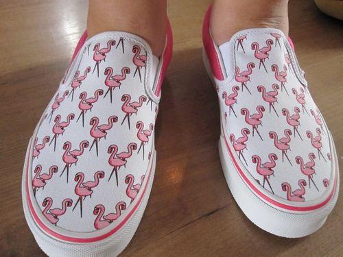 Pink flamingo Vans
