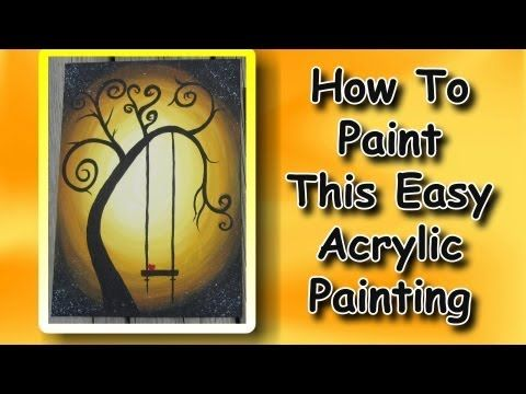 ▶ How To Paint An Easy Acrylic Painting For Beginners - YouTube