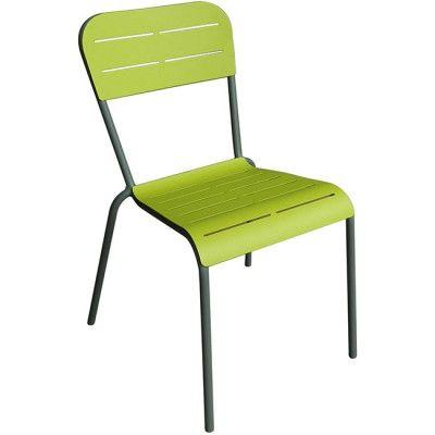 Chaise de jardin verte et grise - Mobilier de jardin - Jardin / Plein Air | GiFi