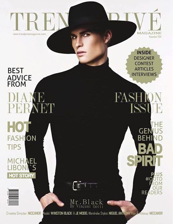 NOVEMBER 2014   Cover Photo: Vincent Gotti   FiSF alumni JUSTIN JAMISON - Menswear