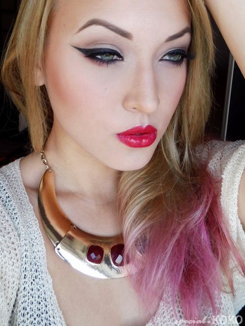 Special Koko - Make-up, beauty & fashion!: Timeless beauty : Winged eyeliner & red lips