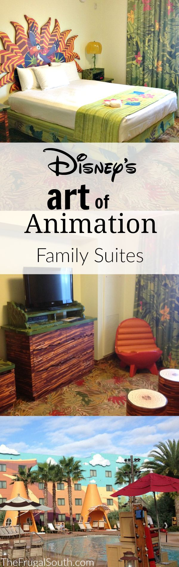 Standard hotel rooms at Disney feeling cramped? Here's a review of the Family Suites at Disney's Art of Animation Resort, which sleep up to six. Perfect for families with young kids who want privacy and more space!