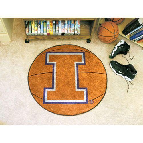Illinois Fighting Illini NCAA Basketball Round Floor Mat (29)