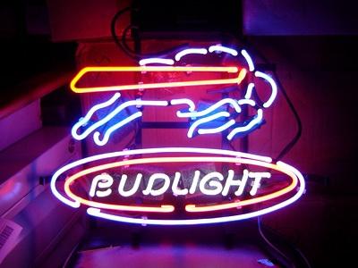 Budweiser Bud Light NFL Buffalo Bills Beer Bar Neon Light Sign - man cave