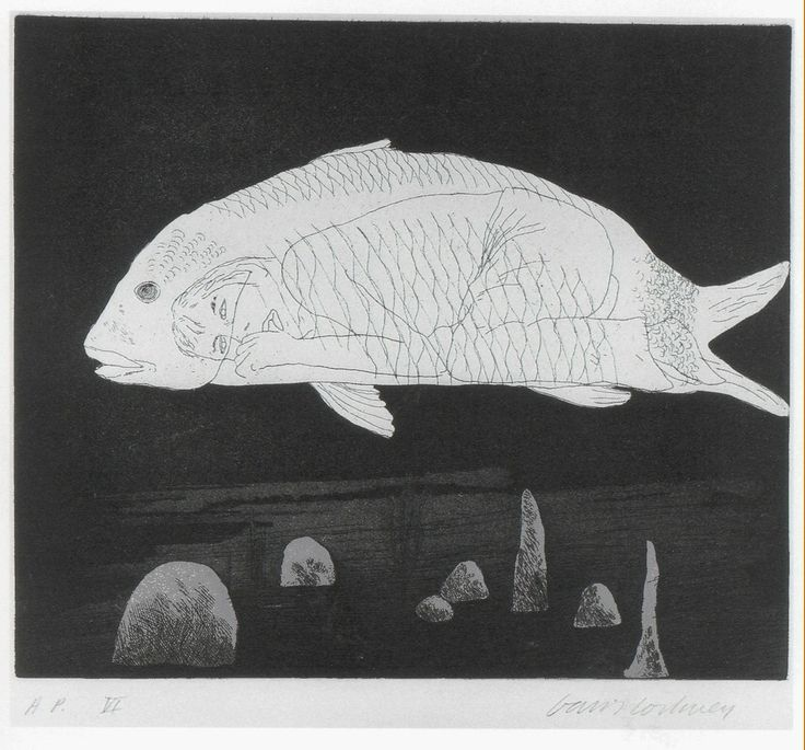 David Hockney, The Boy Hidden in a Fish, 1969, Alan Cristea Gallery