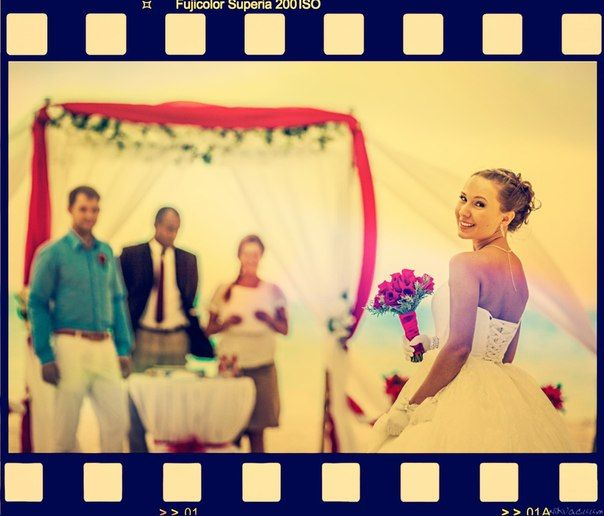 Bride on the Cap Cana beach