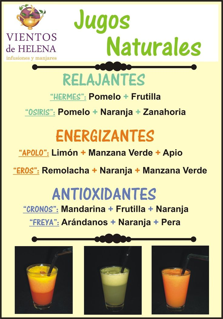 Jugos Naturales. #salud #saludable #rejalante #energizante #antioxidante #licuado #batido #alimentacion #nutricion #adelgazar #bajar #perder #reducir #peso #dieta #receta