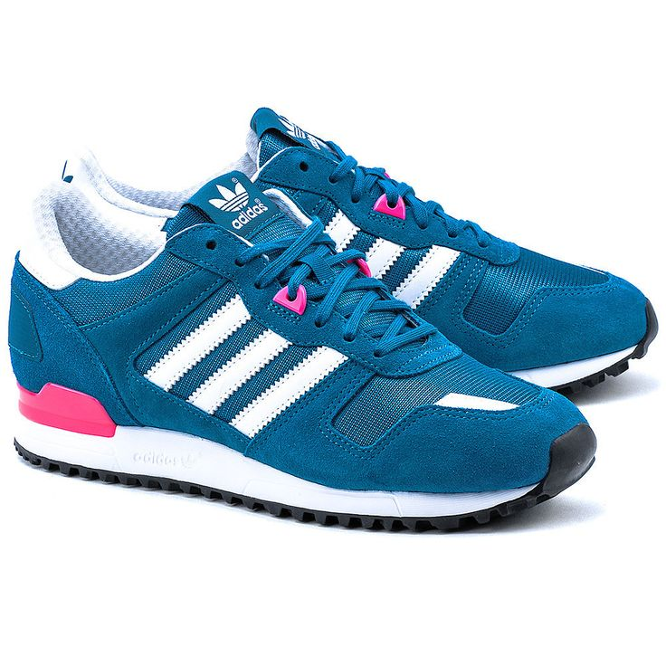 ADIDAS ZX 700 W - Niebieskie Nylonowe Sportowe Damskie - Buty Kobiety Sportowe | Mivo