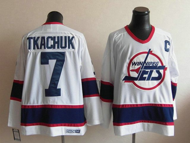Winnipeg Jets 7 Keith TKACHUK CCM Vintage Hockey White Jersey