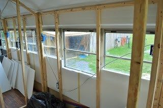 When converting a school bus what type of insulation would you choose? We choose recyclable Styrofoam board for this conversion. discoveringusbus.com
