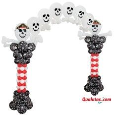 Pirate party - draw your own skull face on white balloons with a black marker
