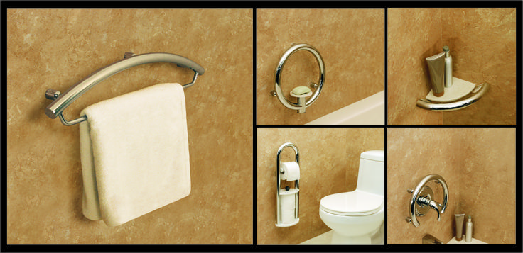 Decorative Grab Bars Invisia Collection Mosaic 5