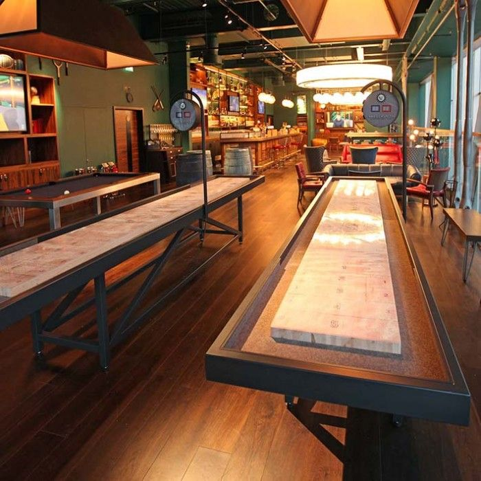 Made from metal, The Lancaster shuffleboard has a sleek modern feel - The Games Room Company