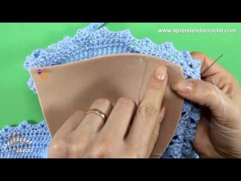Top Cropped Crochê Strappy Bra - Aprendendo Croche - YouTube