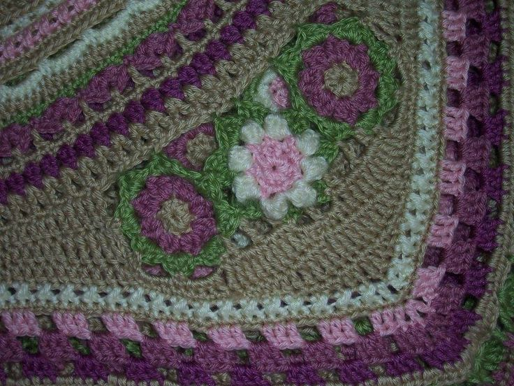 Here's a close up of the very corner. You can see where I graduated the stitches…