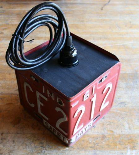 Vintage-Industrial-Red-Pendant-Lamp-Repurposed-Assemblage-Hanging-Studio-Light