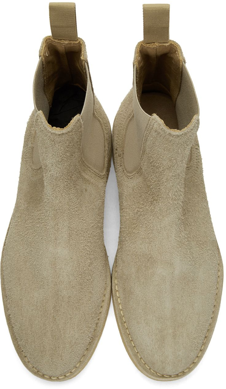 a0370f7506d YEEZY - Taupe Chelsea Boots Suede Chelsea Boots