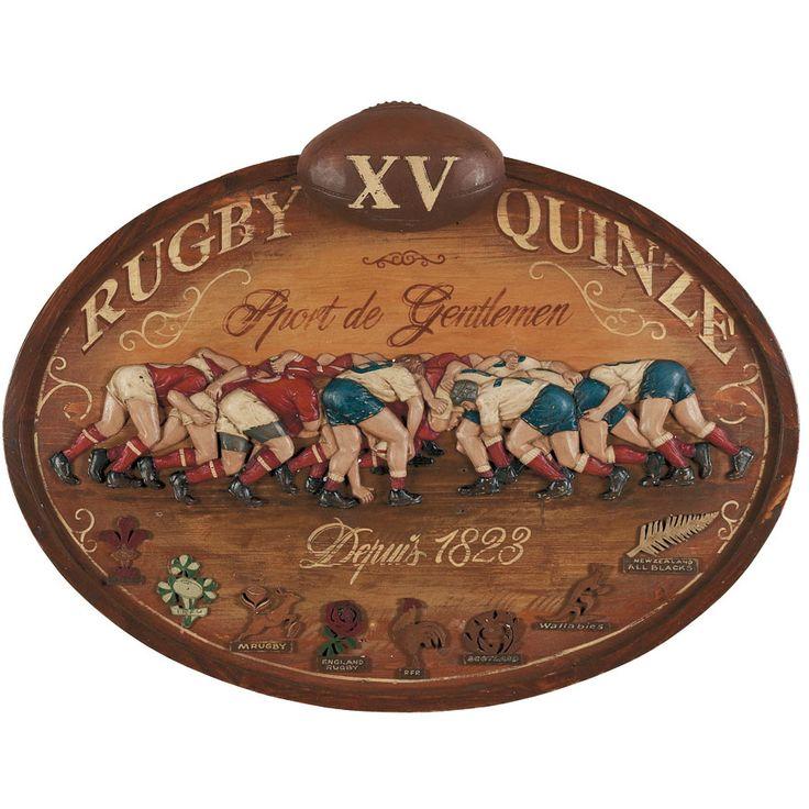 Enseigne Rugby sport gentlemen