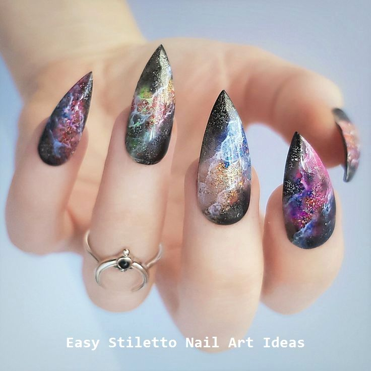 30 große Stiletto Nail Art Design-Ideen #nailideas – Long Stiletto Nails